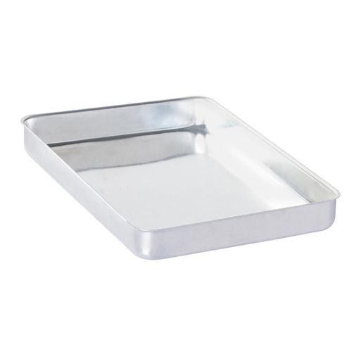 Picture of Almetal Baklava Tray, Aluminum, Cornered, Bold, 1000 gr, 35x45x4 cm