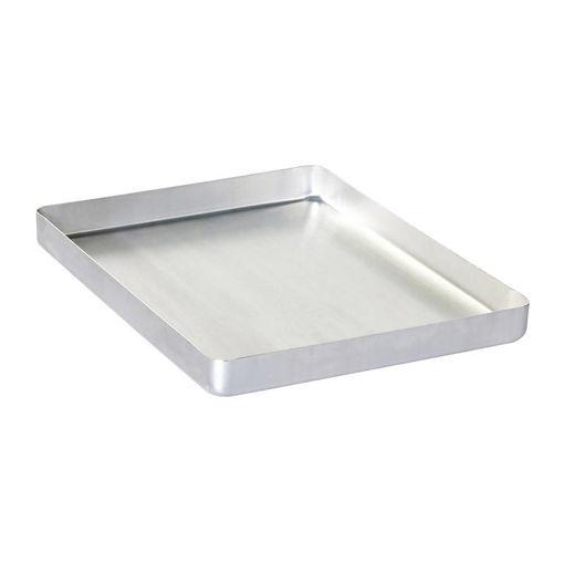 Picture of Almetal Baklava Tray, Aluminum, Disposable, Cornered, Thin, 20x30x3 cm