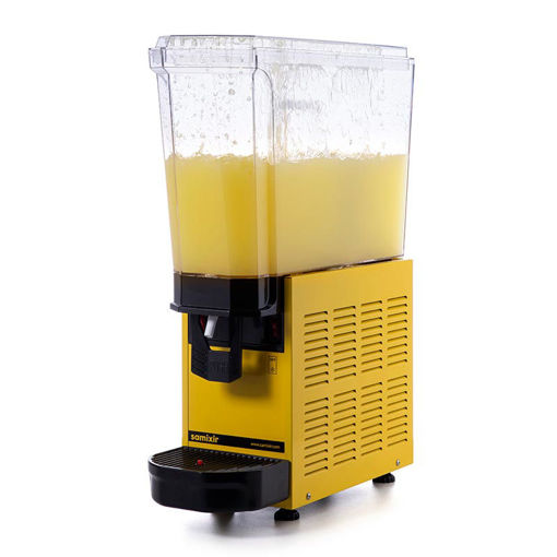 Picture of Samixir Classic Mono Cold Juice Dispenser, 20 L, Fountain, Yellow