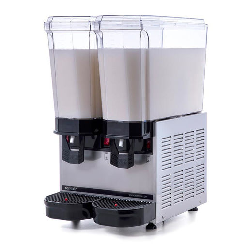Picture of Samixir Classic Twin Cold Drink Dispenser, 20 + 20 L, Mixer, Inox