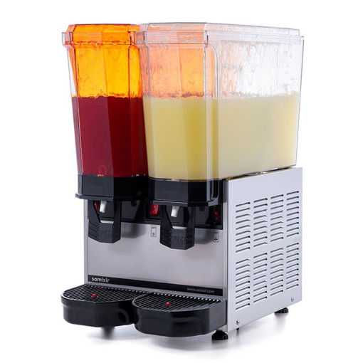 Picture of Samixir Classic Twin Cold Drink Dispenser, 20 + 20 L, Sprinkler, Inox