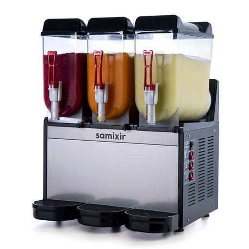 Picture of Samixir Ice Slush Machine, 3x12 L, Inox-Black