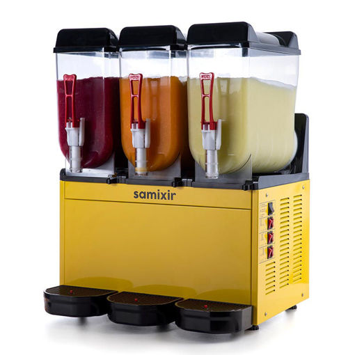 Picture of Samixir Ice Slush Machine, 3x12 L, Yellow