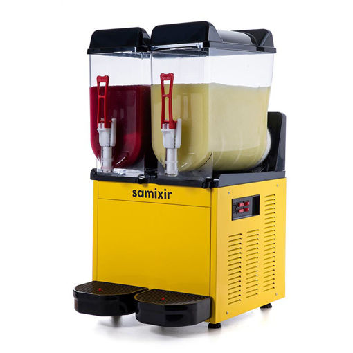 Picture of Samixir Ice Slush Machine, 2x12 L, Yellow