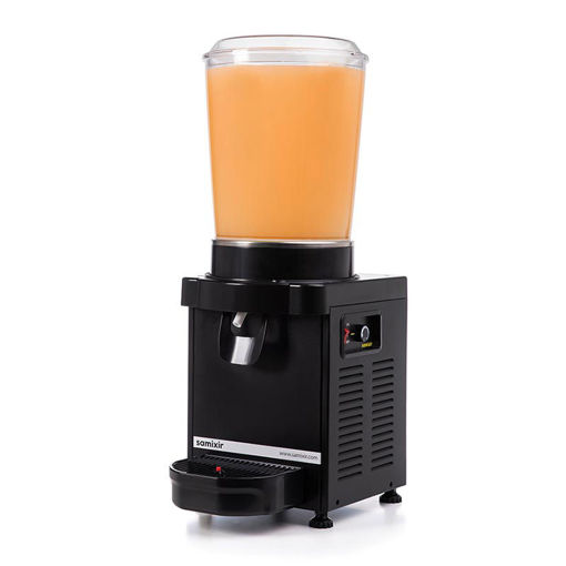 Picture of Samixir M10 Cold Drink Dispenser, 10 L, Analog, Panoramic, Black