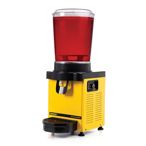 Picture of Samixir M10 Cold Drink Dispenser, 10 L, Analog, Panoramic, Yellow