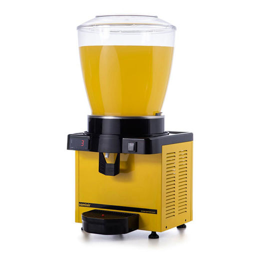 Picture of Samixir M22 Cold Drink Dispenser, 22 L, Digital, Panoramic, Yellow