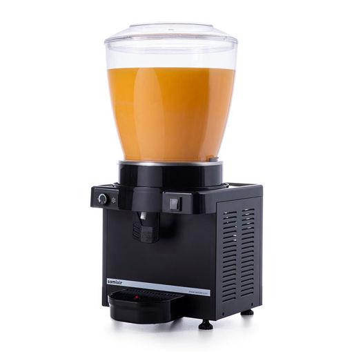 Picture of Samixir M22 Cold Juice Dispenser, 22 L, Analog, Panoramic, Black