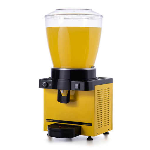 Picture of Samixir M22 Cold Juice Dispenser, 22 L, Analog, Panoramic, Yellow