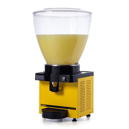 Picture of Samixir M40 Cold Drink Dispenser, 40 L, Digital, Panoramic, Yellow