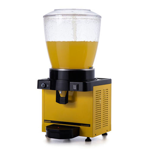 Picture of Samixir S22 Cold Drink Dispenser, 22 L, Analog, Panoramic, Yellow