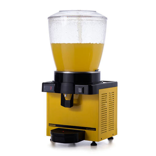 Picture of Samixir S22 Cold Drink Dispenser, 22 L, Digital, Panoramic, Yellow