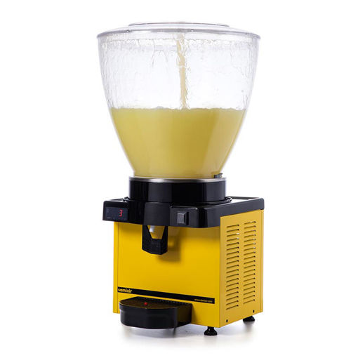 Picture of Samixir S40 Cold Drink Dispenser, 40 L, Digital, Panoramic, Yellow