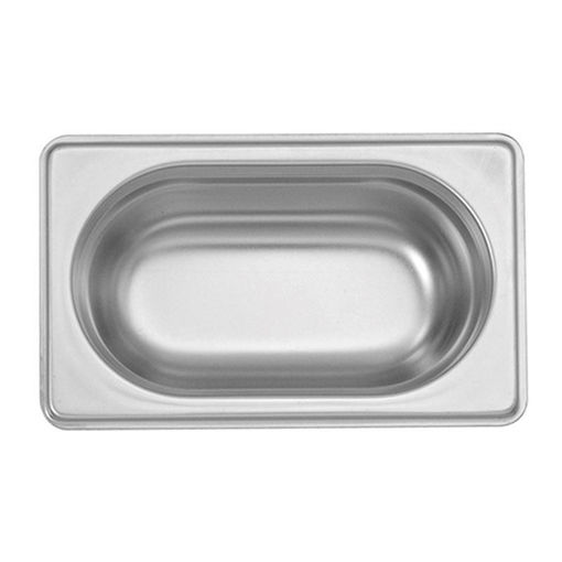 Ozti Gastronorm Pan, Stainless Steel, GN 1/9, 65 mm