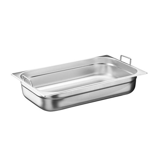 Ozti Gastronorm Pan, With Handles, Stainless Steel, GN 1/1, 100 mm