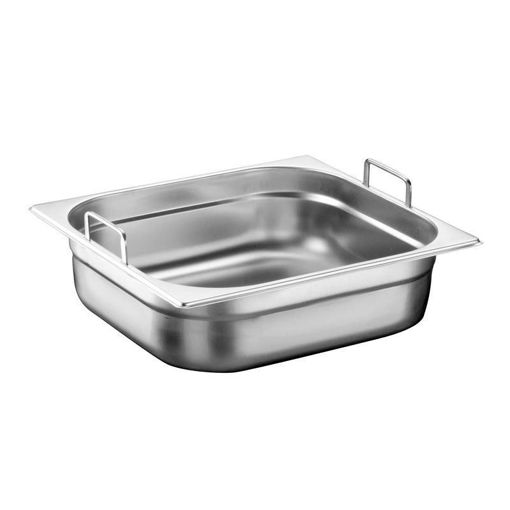 Ozti Gastronorm Pan, With Handles, Stainless Steel, GN 2/3, 100 mm