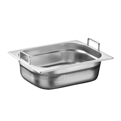 Ozti Gastronorm Pan, With Handles, Stainless Steel, GN 1/2, 100 mm