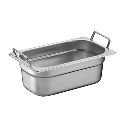 Ozti Gastronorm Pan, With Handles, Stainless Steel, GN 1/4, 65 mm