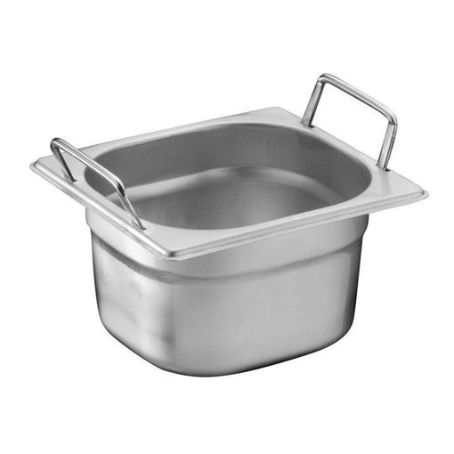 Ozti Gastronorm Pan, With Handles, Stainless Steel, GN 1/6, 150 mm