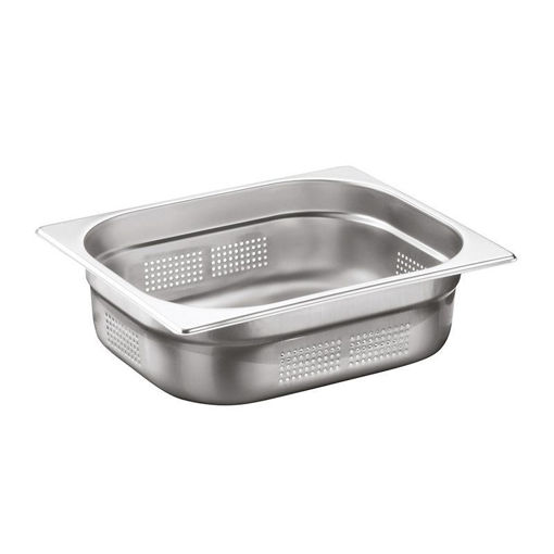Ozti Gastronorm Pan, Perforated, Stainless Steel, GN 1/2, 20 mm