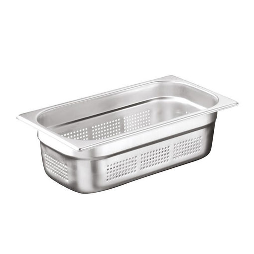 Ozti Gastronorm Pan, Perforated, Stainless Steel, GN 1/3, 100 mm