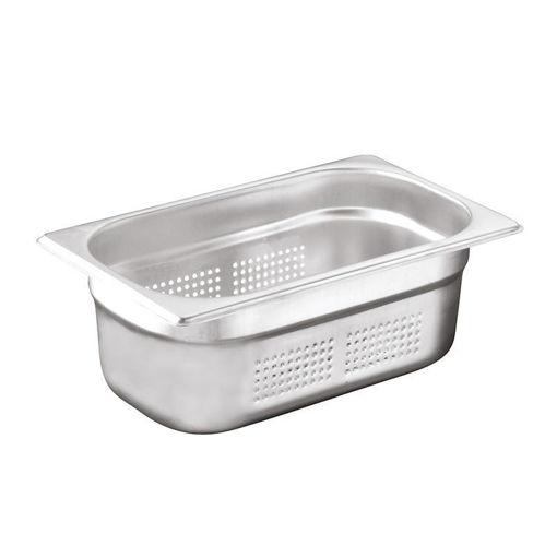Ozti Gastronorm Pan, Perforated, Stainless Steel, GN 1/4, 40 mm