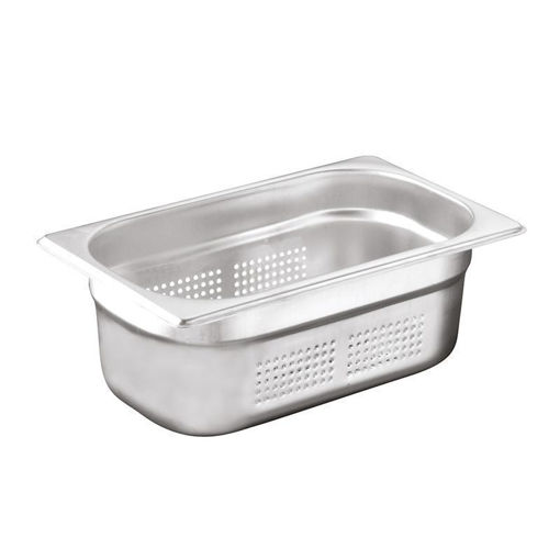 Ozti Gastronorm Pan, Perforated, Stainless Steel, GN 1/4, 100 mm
