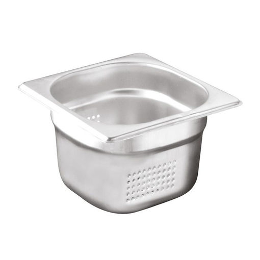Ozti Gastronorm Pan, Perforated, Stainless Steel, GN 1/6, 65 mm