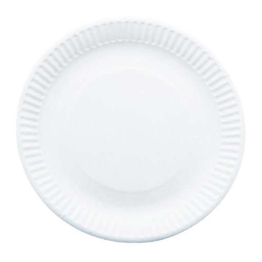 Caterpack Paper Plate, 23 cm, 9 inc, 250 Pack, White