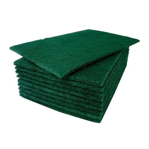 Robinson Young 10 Kitchen Scouring Pads, 23x15 cm, Green