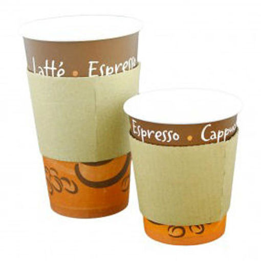 Robinson Young Coffee Cup Sleeves Compostable For 12/16/20 Oz Cups, Pack Of 100