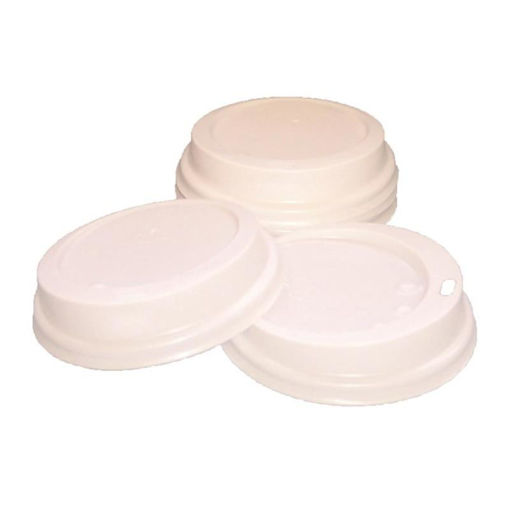 Robinson Young Paper Cup Sip Lids, For Caterpack, 25-35 cl, Pack Of 100, White