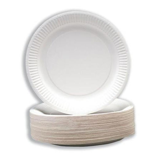 Robinson Young Paper Plates, Disposable, 180-230 mm, Pack of 100, White