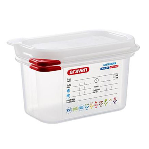 Araven Food Container, 1 L, Airtight, Gastronorm 1/9