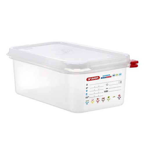 Araven Food Container, 2.8 L, Airtight, Gastronorm 1/4