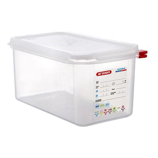 Araven Food Container, 6 L, Airtight, Gastronorm 1/3