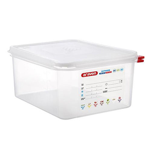 Araven Food Container, 10 L, Airtight, Gastronorm 1/2