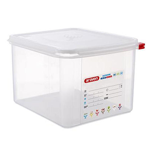 Araven Food Container, 12.5 L, Airtight, Gastronorm 1/2